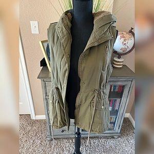 Fur lined vest